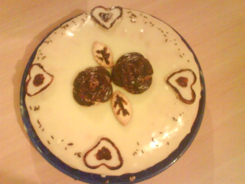 Gateau four a la creme patissiere chocolat couettecouette - Creme patissiere chocolat blanc ...