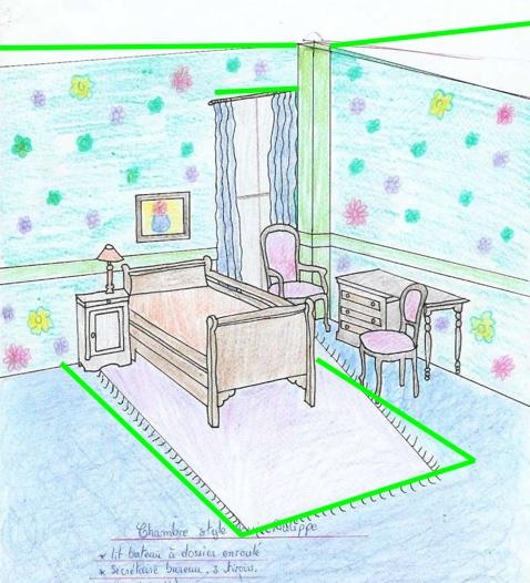 Mon premier dessin chambre for Perspectives dune chambre