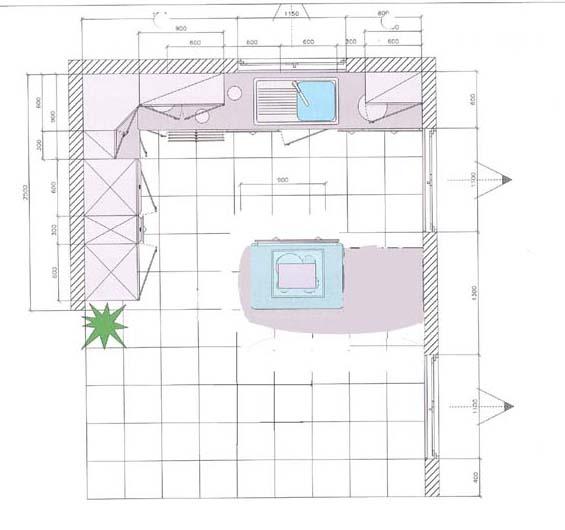 Dimension plan de travail cuisine choix plan de travail for Dimension plan de travail cuisine