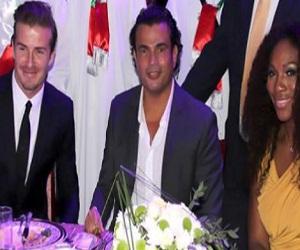 بالصور حفل خاص يجمع عمرو دياب و ديفيد بيكهام  بأبوظبي