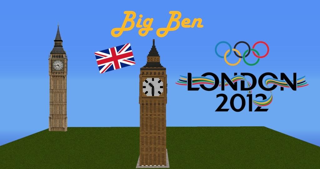 Big ben london 2012 minecraft project