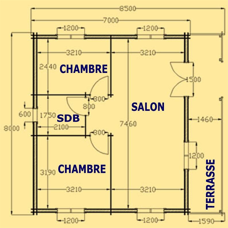 Plan de maison 60m2 segu maison for Chambre 60m2