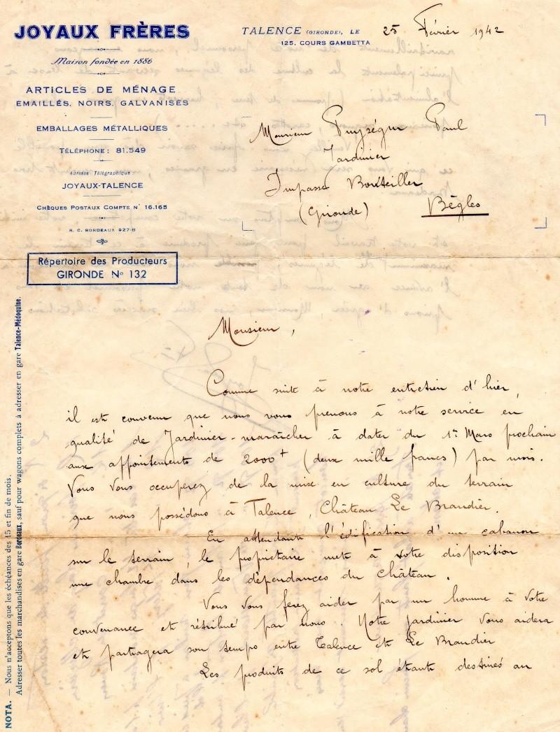 Lettre d 39 embauche en 1942 - Experte en composants 15 lettres ...