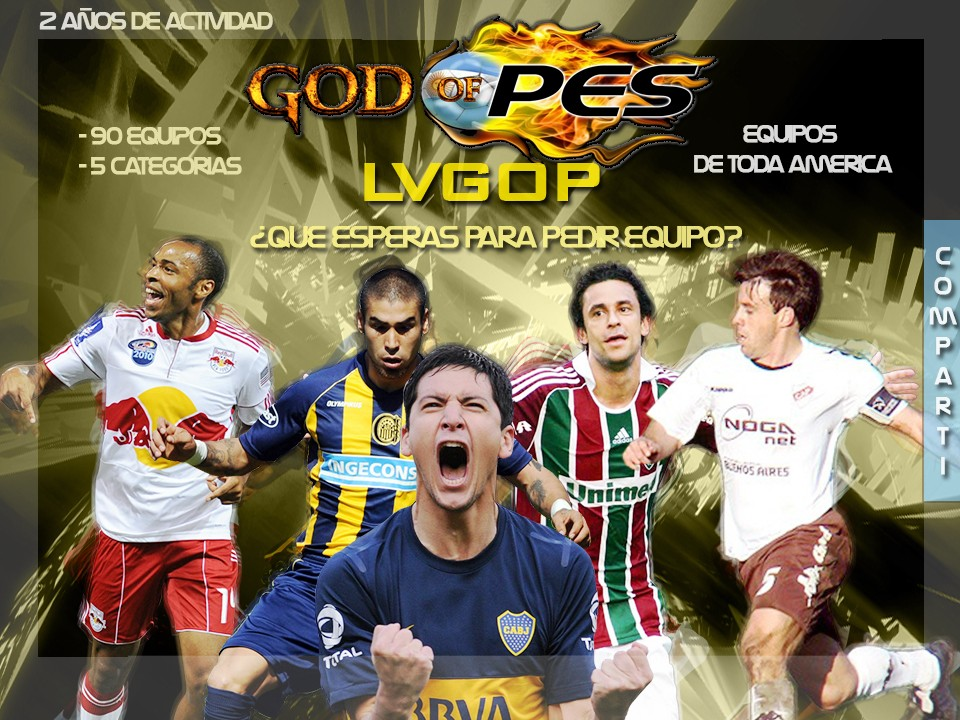 Liga virtual Argentina y Americana de Futbol God OF PES