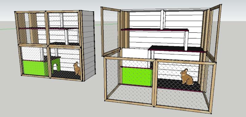 construire une cage soi m me allez zou. Black Bedroom Furniture Sets. Home Design Ideas