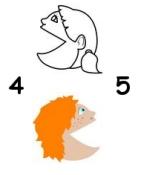Spunti per insegnare il maggiore minore uguale e numeri for Trota da colorare