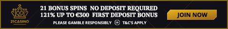 21 Casino and Mobile 21 Bonus Spins No Deposit Bonus