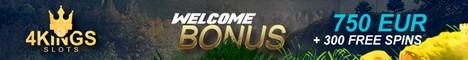 4 King Slots Casino $/€750 welcome bonus + 300 Free Spins