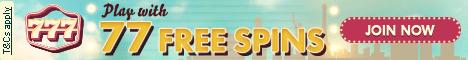 777 Casino 77 Free Spins No Deposit Bonus No deposit bonus