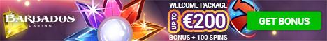 Barbados Casino $/€200 bonus + 100 Free Spins