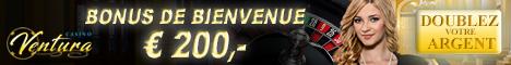 Casino Ventura 5€/$ Gratuits Bonus sans dépôt 250% Bonus