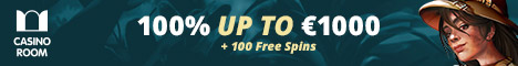 Casino Room $/€1000 Welcome bonus + 100 free Spins