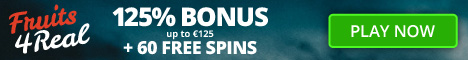 Fruits4Real Casino €/$125 Welcome Bonus + 60 Free Spins