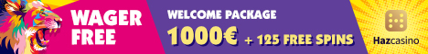 Haz Casino $/€2000 Bonus + 125 Free Spins