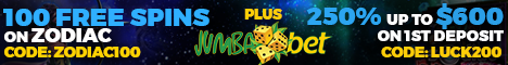 Jumba Bet Casino 100 Free Spins no deposit bonus