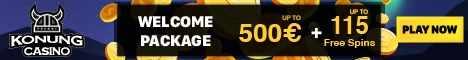 Konung Casino BTC/$/€500 Bonus + 115 Free Spins