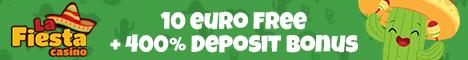 La Fiesta Casino $/€10 no deposit bonus