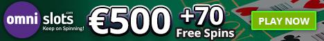 Omni Slots Casino €/$500 Welcome Bonus + 70 Free Spins