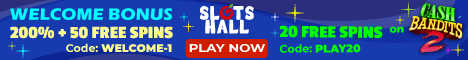 Slots Hall Casino 20 free spins no deposit bonus