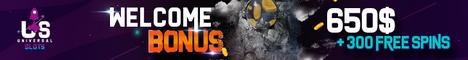Universal Slots Casino $/€650 welcome bonus + 300 Free Spins