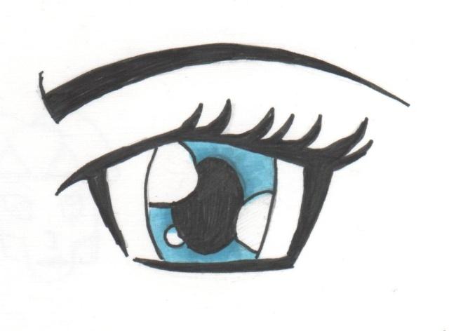 Dessin oeil manga roseecarlate - Dessin oeil facile ...